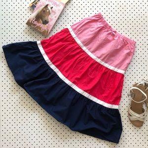 Girls size 8 GYMBOREE tiered pink cotton skirt